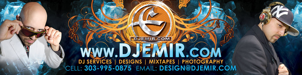 DJ Emir Santana Mixtapes Designs Photography DJs Denver New York